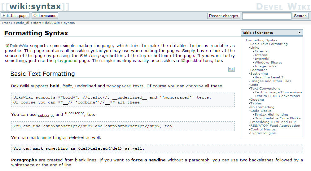 The Story behind DokuWiki\'s new Template « selfthinker