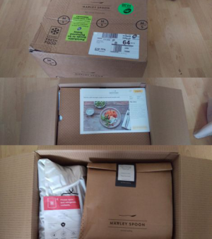 The box and its contents when it arrived